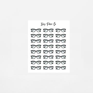 Glasses Icon Sticker Sheet
