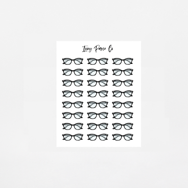 Glasses Icon Sticker Sheet