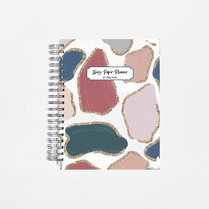 Glitter Animal Print Undated Ivory Paper Co Planner