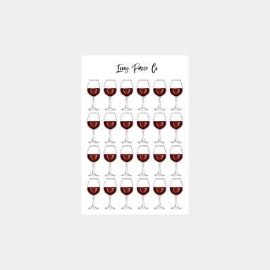 Wine Glass Icon Sticker Sheet