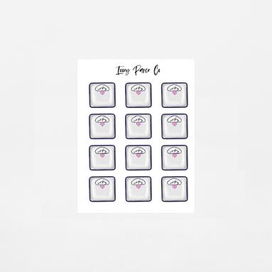 Scale Icon Sticker Sheet