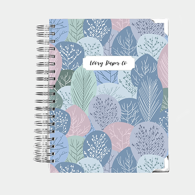 Winter Trees | Vertical Weekly Planner (12 Months)