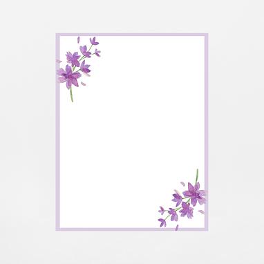 Lavender Floral Notepad