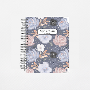 Navy Floral Undated Ivory Paper Co Planner