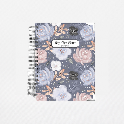 Navy Floral | Weekly Planner (12 Months)