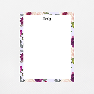 Lavender Watercolor Notepad | Customize Me