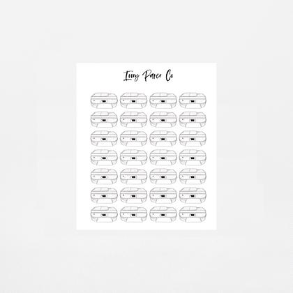Printer Icon Sticker Sheet