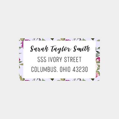 Lavender Watercolor Return Address Labels