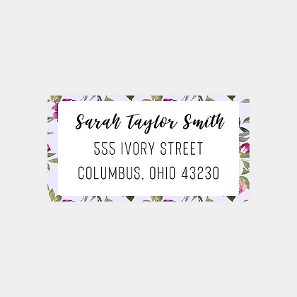 Lavender Watercolor Return Address Labels