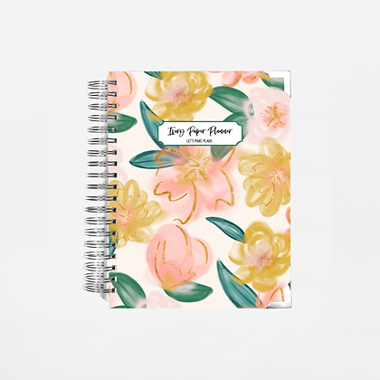 Peach Watercolor | Weekly Planner (12 Months)