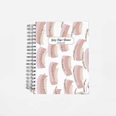 Mauve Brush Strokes Undated Ivory Paper Co Planner
