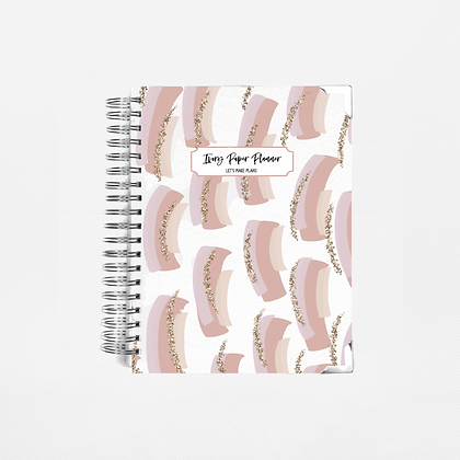 Mauve Brush Strokes | 12 Month Daily Planner