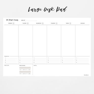 Large Deskpad Weekly Calendar | Priorities Edition  (52 weeks)