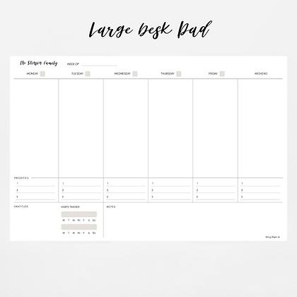 Large Deskpad Weekly Calendar   Priorities Edition  (52 weeks)