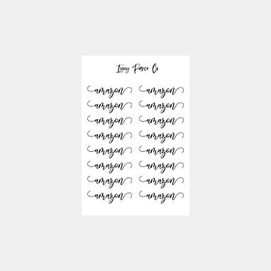 Amazon Script Sticker Sheet