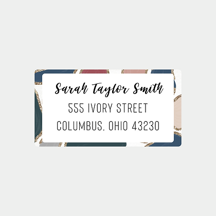 Glitter Animal Print Return Address Labels