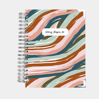 Desert Waves | Vertical Weekly Planner (12 Months)
