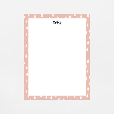 Pink Drops Notepad