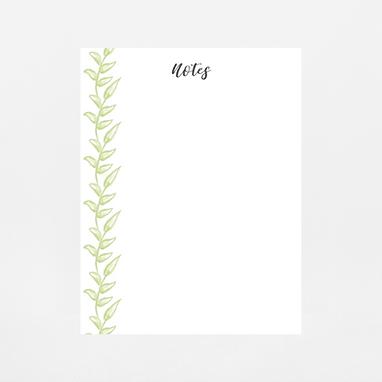 Greenery Notepad | Customize Me
