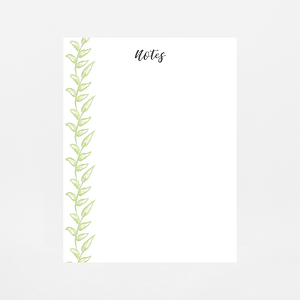 Greenery Notepad | Customize Me