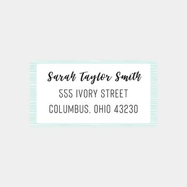Pale Blue Stripes Return Address Labels