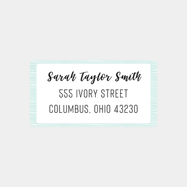 Pale Blue Stripes Return Address Labels