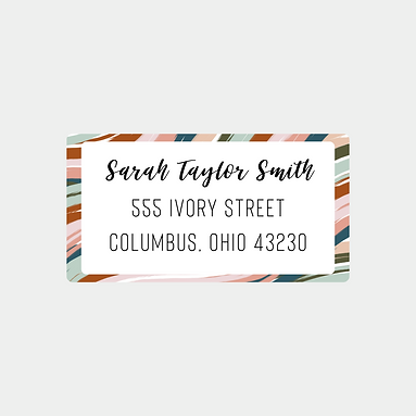 Desert Waves Return Address Labels