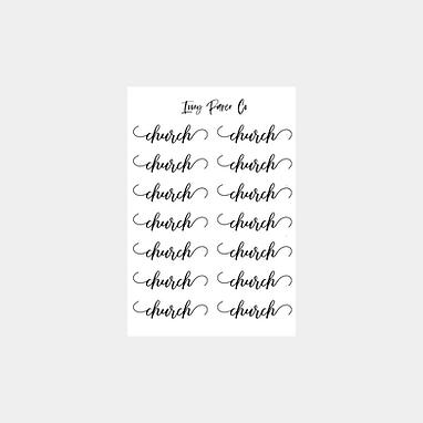 Church Script Sticker Sheet