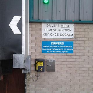 Loading bay door safety system