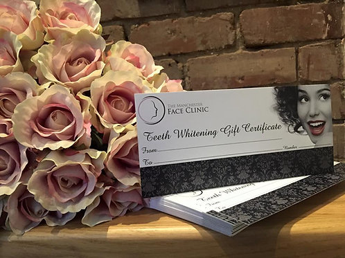 Professional Tooth Whitening Gift Certificate