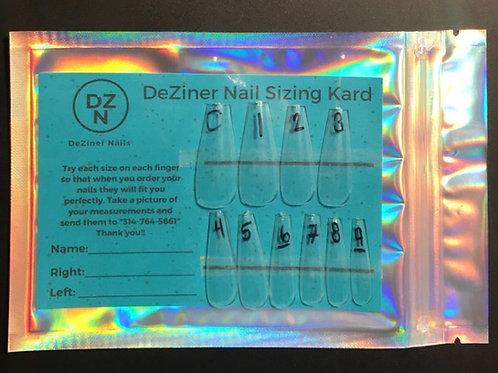 DeZiner Nail SIzing Kard