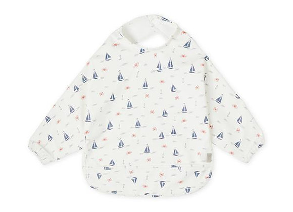 Cam Cam Copenhagen Sleeved Bib Sailboats