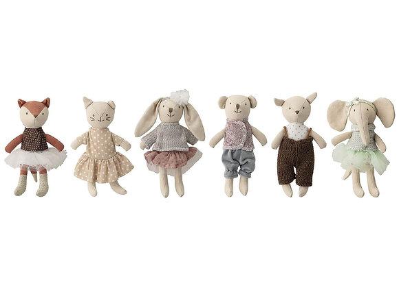 Bloomingville Soft Animal Doll Set of 6