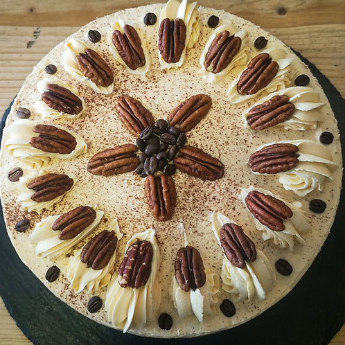 Coffee and Pecan cake (Serves 16-20)