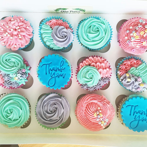 Floral Cupcakes (12)