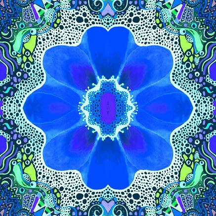 Flower in Blue by Helena Tiainen