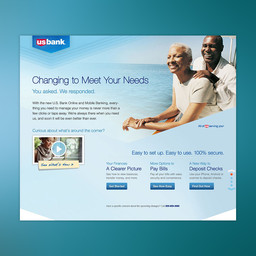 U.S. Bank Online and Mobile Banking campaign announcing new user experience to customers.
