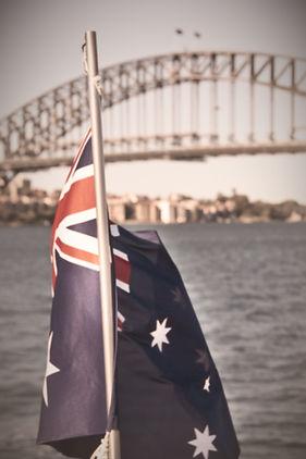 Australia flag and harbour bridge_edited