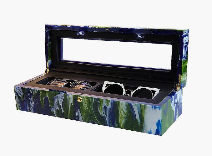 Eartha Marble Goddess - 2 Pair Multiple Eyeglass Storage Case