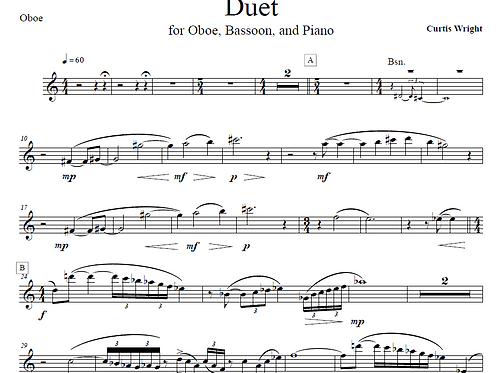 Duet for Oboe and Bassoon