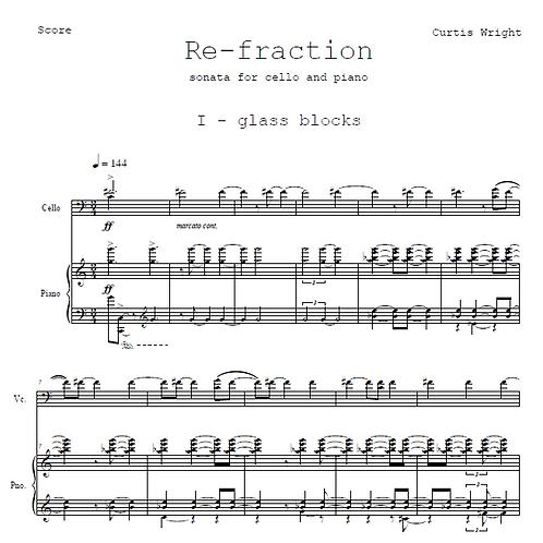 Re-fraction Sonata for Cello and Piano