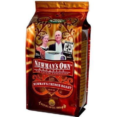 Newman's Own Organics Fair Trade Certified Organic Coffee Newman's French Roast Ground 10 oz.