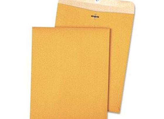 Recycled Brown Kraft Clasp Envelope- 9 x 12- 100/Box