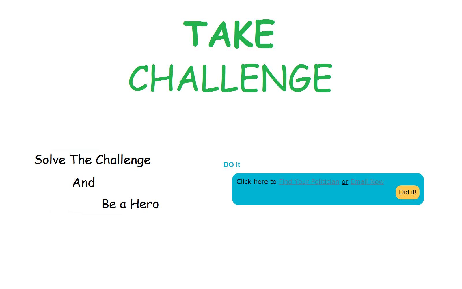 3 - Take The Challenge