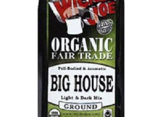 Wicked Joe Organic Fair Trade Big House Ground Coffee