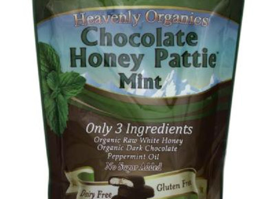 Heavenly Organics Chocolate Honey Mint Patties - Fair Trade