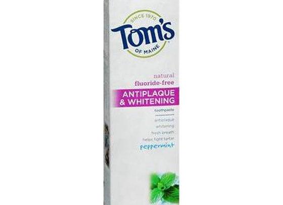 Tom's of Maine Antiplaque & Whitening Fluoride-Free Toothpaste Peppermint