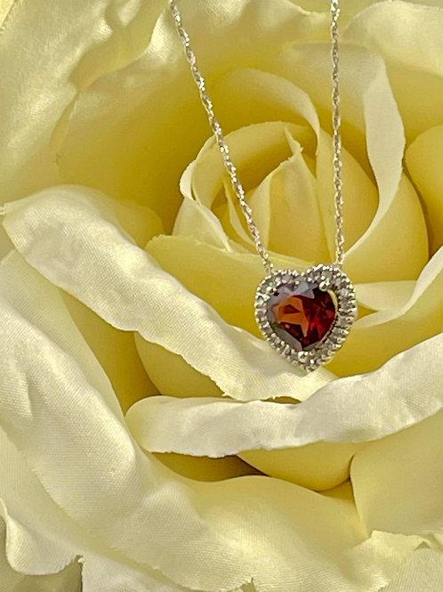 Gold Heart Garnet
