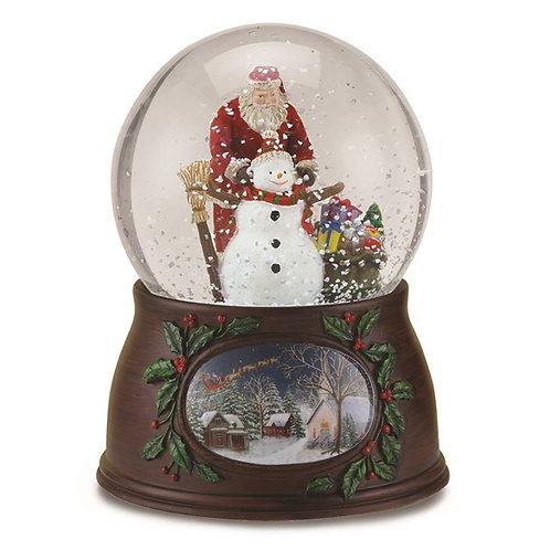 Santa and Snowman Dome
