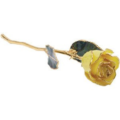 24K Dipped Yellow Rose